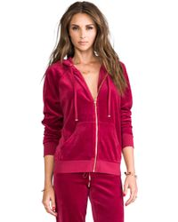 Juicy Couture - J Bling Relaxed Hoodie in Red - Lyst