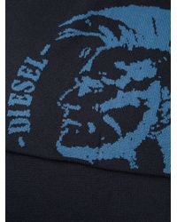 Diesel Blue Patterned Scarf - Lyst