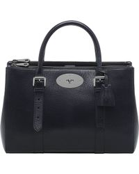Mulberry Bayswater Double-zip Glossy Goat Leather Tote - Lyst