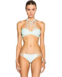 Mikoh Swimwear Kahala Bikini Top blue - Lyst