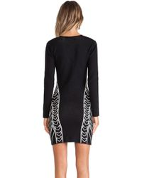 Blessed Are The Meek Geometry Dress - Black
