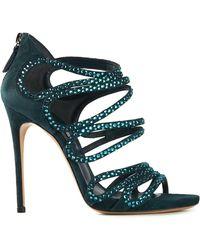Casadei Embellished Sandals - Lyst