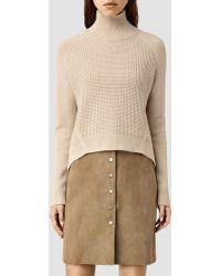 AllSaints | Galo Funnel Neck Sweater | Lyst