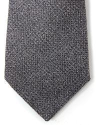 Lanvin - Steel Grey Tweed Effect Tie - Lyst
