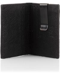 BOSS Orange - 'ruston' | Leather Card Holder With Detachable Money Clip - Lyst