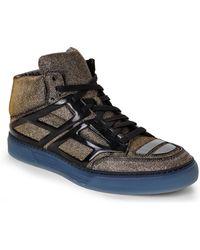 Alejandro Ingelmo Silver & Black Tron High-Top Sneakers - Lyst
