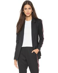 re:named Womens Houndstooth Varsity Bomber Jacket