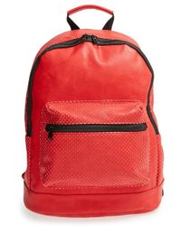 Nila Anthony | Perforated Faux Leather Backpack | Lyst