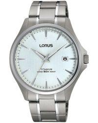 Lorus Rs933cx9 Men's Date Titanium Bracelet Strap Watch - White