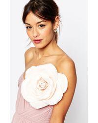 ASOS Oversize Blush Rose Hair And Body Corsage - Pink