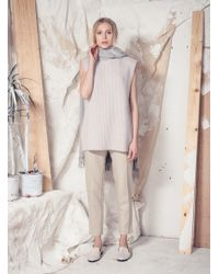 Blake LDN - Melrose Cashmere Tunic In Soft Oatmeal - Lyst