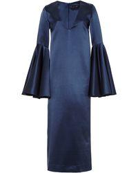 Ellery Mayfair Vneck Satin Midi Dress - Lyst