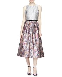 Phoebe - Floral-print Jacquard Ball Skirt - Lyst