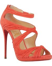 Christian Louboutin Ruched Kashou Sandals - Lyst