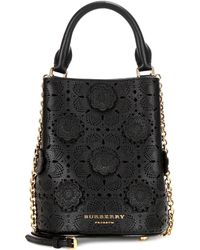 Burberry Prorsum - Small Perforated Leather Bucket Bag - Lyst