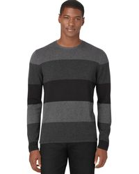 Calvin Klein Merino Striped Colorblocked Sweater - Lyst