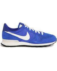 Nike | Internationalist Blue Suede/mesh Sneakers | Lyst