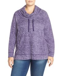 Sejour - Heathered Cowl Neck Pullover - Lyst