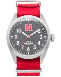 Jack Mason Brand - 'university Of Nebraska Cornhuskers' Nato Strap Watch - Lyst