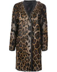 Liska 'Gladice' Leopard Print Coat - Lyst