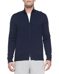 Theory Cashmere Zip Iker Sweater - Lyst