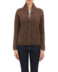 Barneys New York Grandpa Cardigan - Lyst