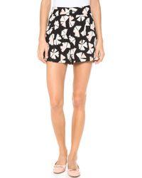 Marc By Marc Jacobs Pinwheel Flower Shorts Black Multi