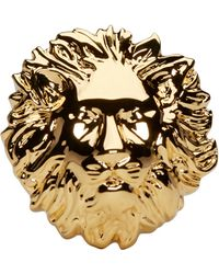 Versus - Gold Lion Ring - Lyst