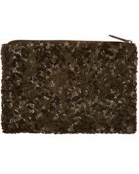 Santi Black Watermelon Sequin Clutch Bag - Brown