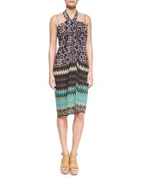 Camilla Mixed-Print Convertible Sarong Coverup multicolor - Lyst