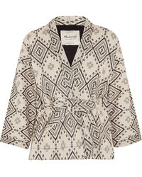 Madewell Arrowhead Cotton-Jacquard Jacket - Lyst