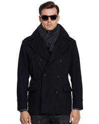 Ralph Lauren Black Label Woolblend Pea Coat - Lyst