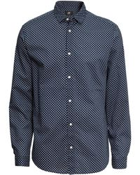 H&M Cotton Shirt Regular Fit - Lyst