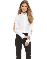 Donna Karan New York Open Sleeve Blouse - White - Lyst