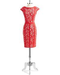 Tadashi Shoji Lace Shift Dress - Lyst