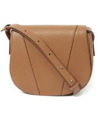 Vince - Tan Leather Medium V Small Shoulder Bag - Lyst