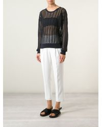 Forte Forte Sheer Woven Sweater - Lyst