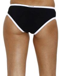 Mauro Grifoni Beachwear Piquet Large Slip Swimwear - Black