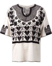 Suno Pattern Embroidered Tunic - Lyst