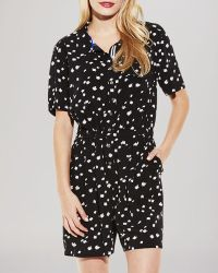 Two By Vince Camuto Dash Print Romper - Black