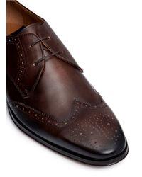 Rolando Sturlini | 'alameda' Brogue Leather Derbies | Lyst