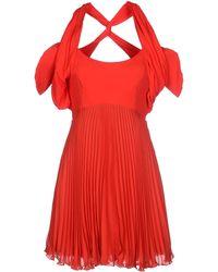 Versus  Short Dress red - Lyst