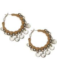Catherine Stein | Leatherette Wrapped Hoop Earrings, 1.25In | Lyst