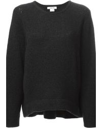 Helmut Lang Perforated Detail Sweater - Lyst