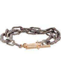 Pearls Before Swine - Silver & Gold Link Bracelet - Lyst