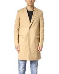 Calvin Klein | Largo Compact Cotton Twill Overcoat | Lyst