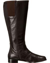 Rose Petals Tessla Extra Wide Shaft Boot - Black