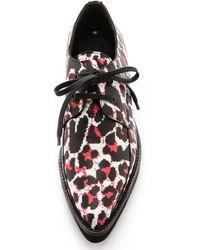 McQ by Alexander McQueen Kim Derby Shoes Pixel Leopardwhite - Lyst