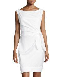 Diane Von Furstenberg New Della Tiewaist Dress - Lyst