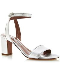 Tabitha Simmons Silver Nappa Leather Leticia Sandal silver - Lyst